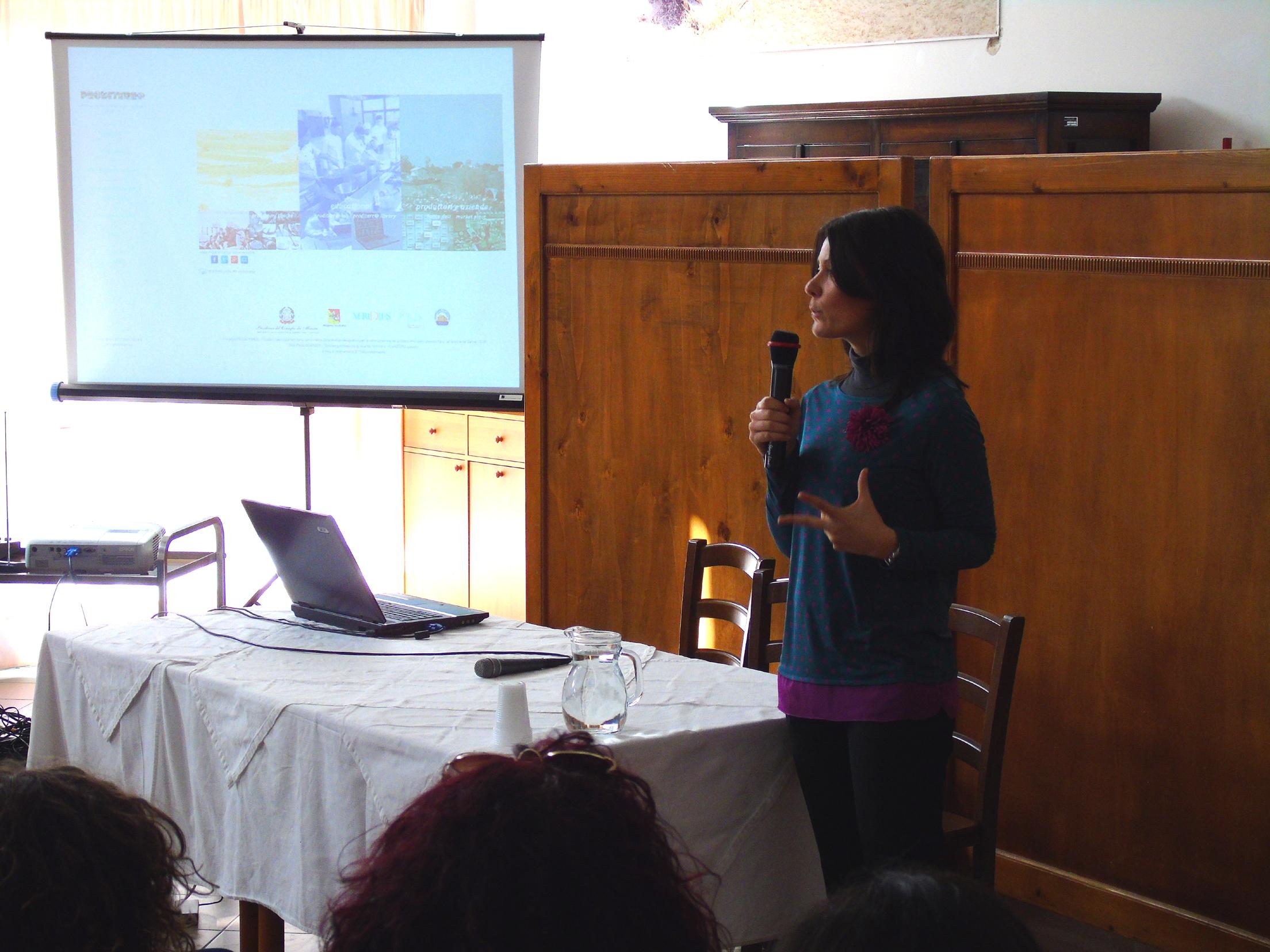 Un momento della presentazione della piattaforma Proditerra.eu
