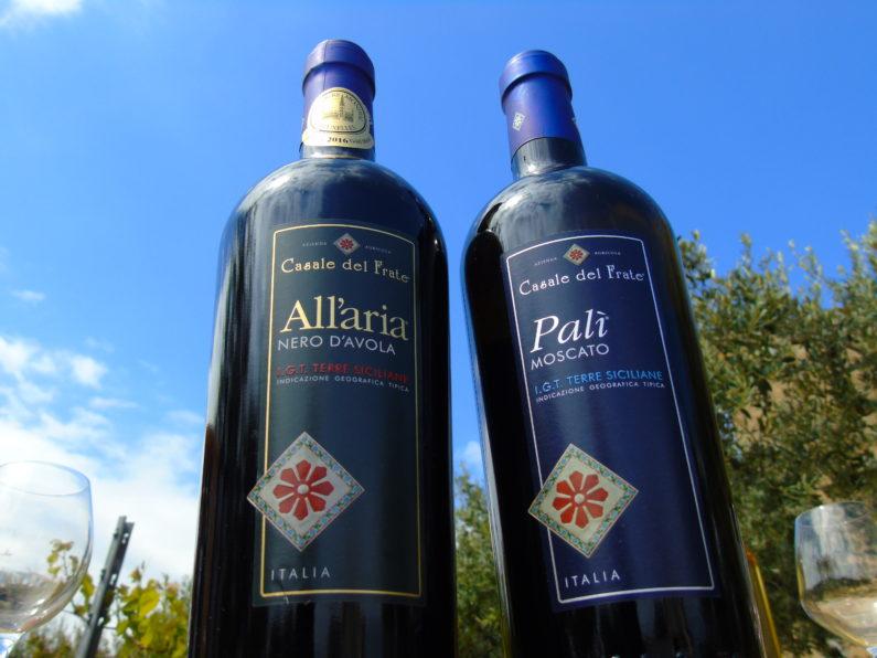 """Il Nero d'Avola """"All'Aria"""" e il Moscato secco """"Palì"""" dell'Azienda Agricola """"Casala del Frate"""" di Castelvetrano (TP)"""